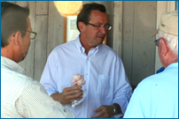 Governor Malloy enjoys a Tulmeadow Ice Cream cone