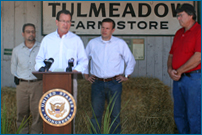 Connecticut Governor Malloy addresses the U.S. drought situation and its effect on farmers and citizens